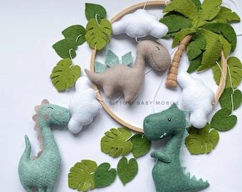 Dinosaur mobile gift for baby girl and boy, nursery mobile for new baby gift, expecting mom gift