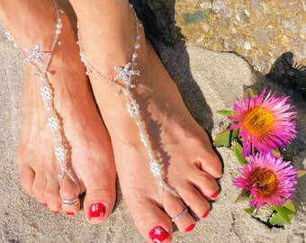 807c0fe07058 Anklet Barefoot Sandal Barefoot Jewelry Pearls Beach Starfish Sandal Sexy  Wedding Bridesmaid Gift DAINTY SEXY SANDAL for U!