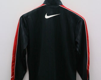 614be6549ef44 Vintage NIKE Big Logo Sportswear Black Zipper Training Jacket Size M