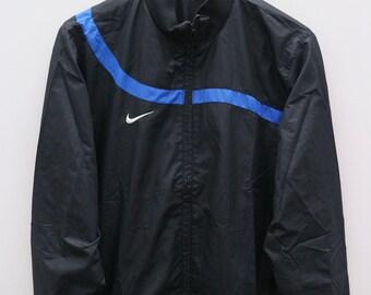 e58433b7f Vintage NIKE Small Logo Sportswear Black Zipper Windbreaker Jacket Size M