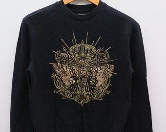 ae3ee107 Vintage ZARA MAN Big Logo Black Pullover Sweatshirt Sweater