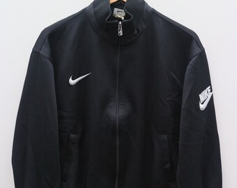 f725cc531 Vintage NIKE Small Logo Sportswear Black Zipper Training Jacket Size L