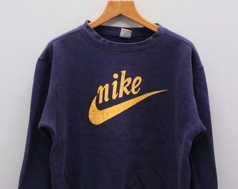 5b1713746a3a Vintage NIKE Big Logo Big Spell Sportswear Blue Pullover Sweater Sweatshirt  Size M