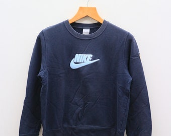 11d00a9a Vintage NIKE Big Logo Big Spell Sportswear Blue Pullover Sweater Sweatshirt  Size L