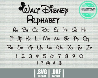 Disney Font Svg Walt Disney Font Svg Disney Svg Disney Alphabet Svg Svg Files For Cricut Silhouette Cameo Brother Scanncut Download 19876 Free Fonts Free Typography Script