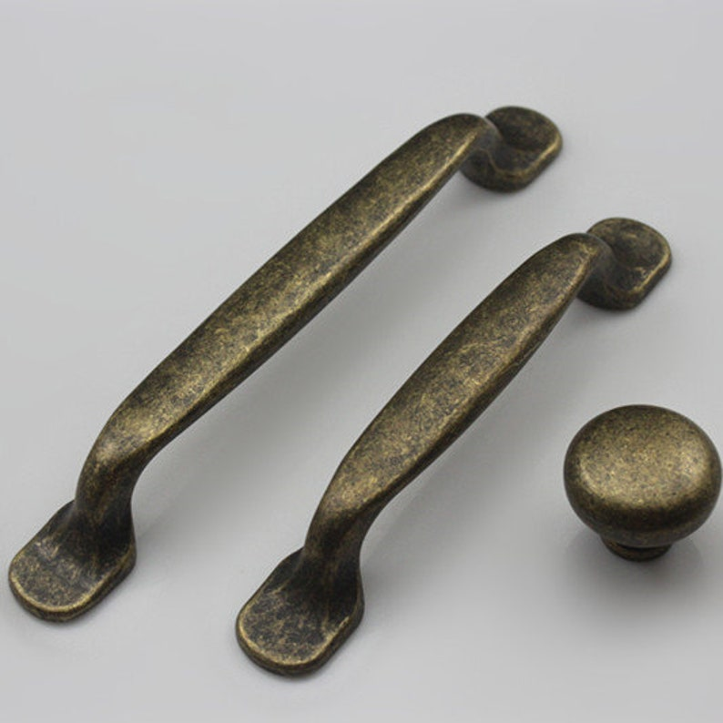 3.75/'/' 5/'/' Antique Bronze Drawer Pulls Knobs Closet Handles Cupboard Door Knobs Handles Rustic Kitchen Cabinet Pull Knob Hardware 96 128 mm