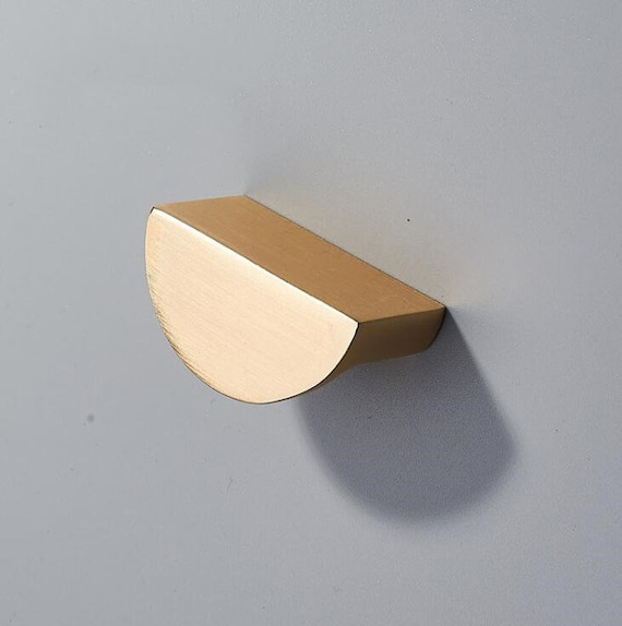 Semicircle Handle Brushed Brass Kitchen Cabinet Door Knob Handle Dresser Drawer Pulls Handles Cupboard Knobs Handles 1 14/'/' Hole to Hole