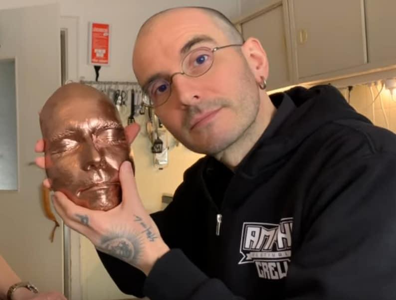 Color Error: Dr. Mark Benecke Death Mask Original and Signed image 0