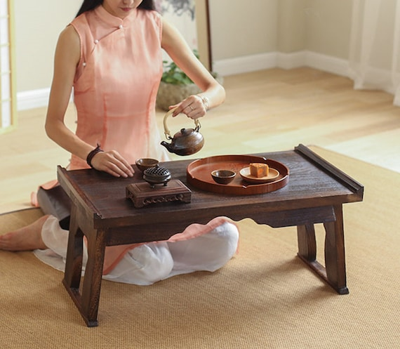 Foldable Traditional Chinese Floor Table Coffee Tea Or End Etsy