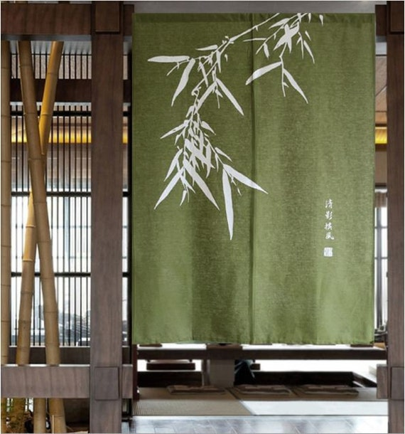 how to make an outdoor bamboo privacy screen woodworking.htm bamboo door curtain oriental stylesilk screen noren curtain etsy  bamboo door curtain oriental stylesilk