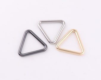 Triangle Double Rings,Slot and Hole Loop Buckle,2016mm Triangle Rings buckle,Adjuster Buckles,Metal Purse Buckles for pursebagdiy making