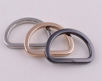 0.75 Inch 1 Inch Metal D Ring Non Welded D-Rings Nickel Plated Silver Assorted 0.5 Inch 1.25 Inch 100 Pack