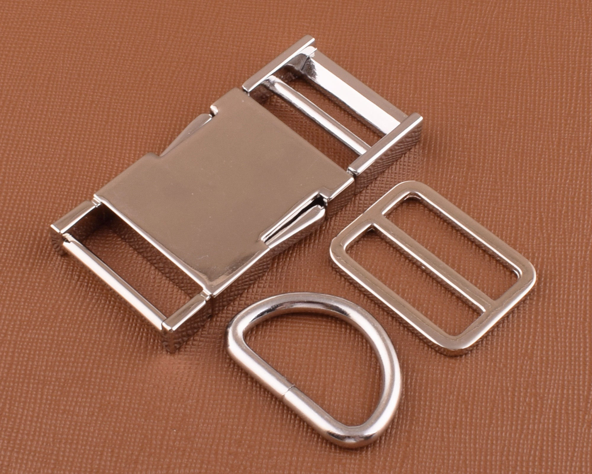 25mm 1/'/' Martingale Collar hardware sets 3-10 Stainless Steel chain /& rings