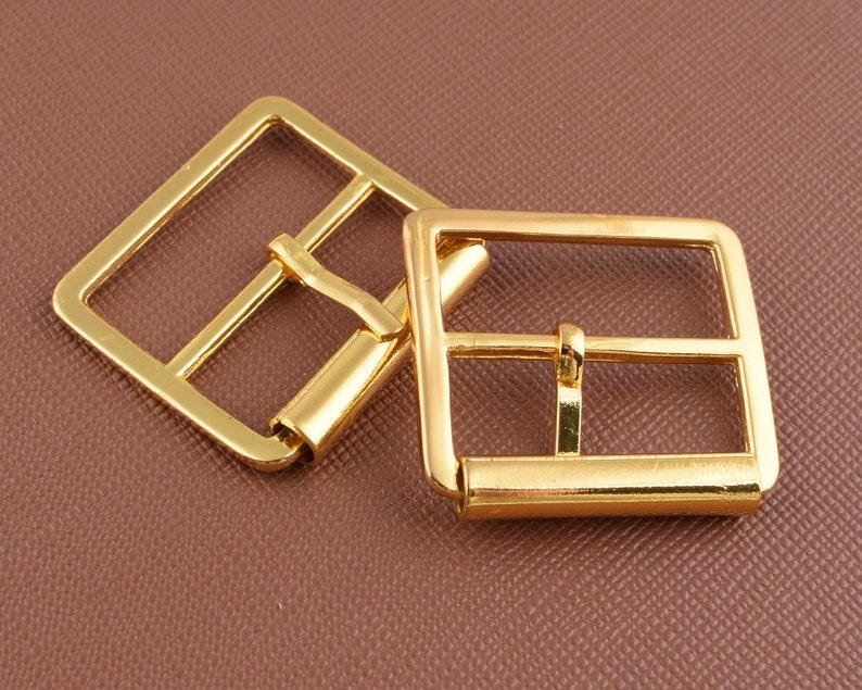 Adjust pin buckles,1 inch silvergold rectangular strap roller buckle,25mm Small square belt buckles for webbing handbag DIY hardware 10 pcs