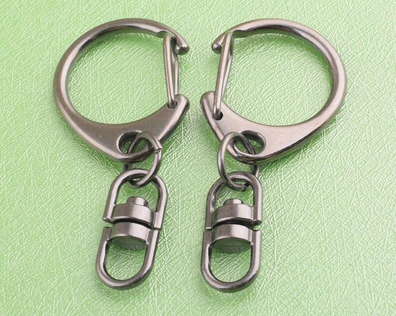swivel clasps gun black swivel snap hook metal lobster clasp for keychian and handbag,8 pcs 5.5mm*50mm