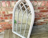 Large Decorative Church Gothic Arched Door Metal Frame Garden Wall Mirror 100cm