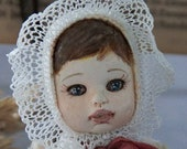 Art Doll OOAK, Vintage Style Doll Collectible Soft Body Doll Retro Classic Doll Textile doll Baby Gif HandmadeHandmade Handmade Toy t Doll