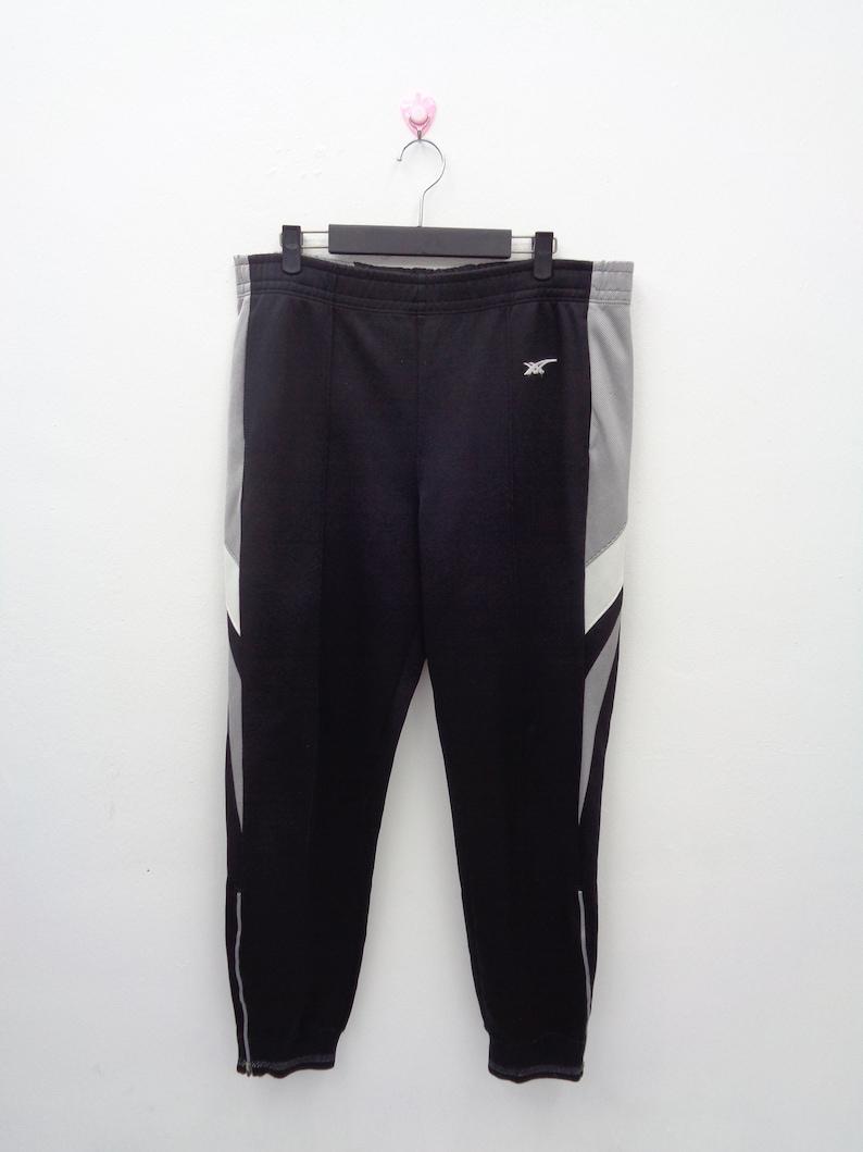 449a037268122 ASICS JAPAN Track Pants Black Polyester Embroided Logo Vintage 90's Asics  Japan Track Bottom Training Suit Jogger Pants