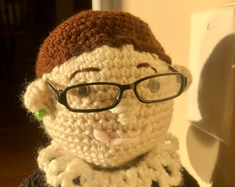 RBG Doll, Ruth Bader Ginsburg Crochet Doll