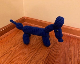 Blue Amigurumi Balloon Dog