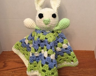 Easter Bunny lovey security blanket