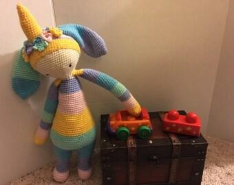 Lalylala Bunny Rabbit Unicorn Amigurumi Doll