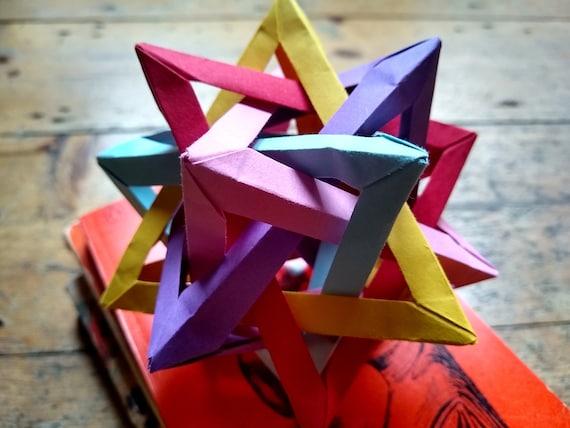 Exploding Firework Origami Action Toy Kit