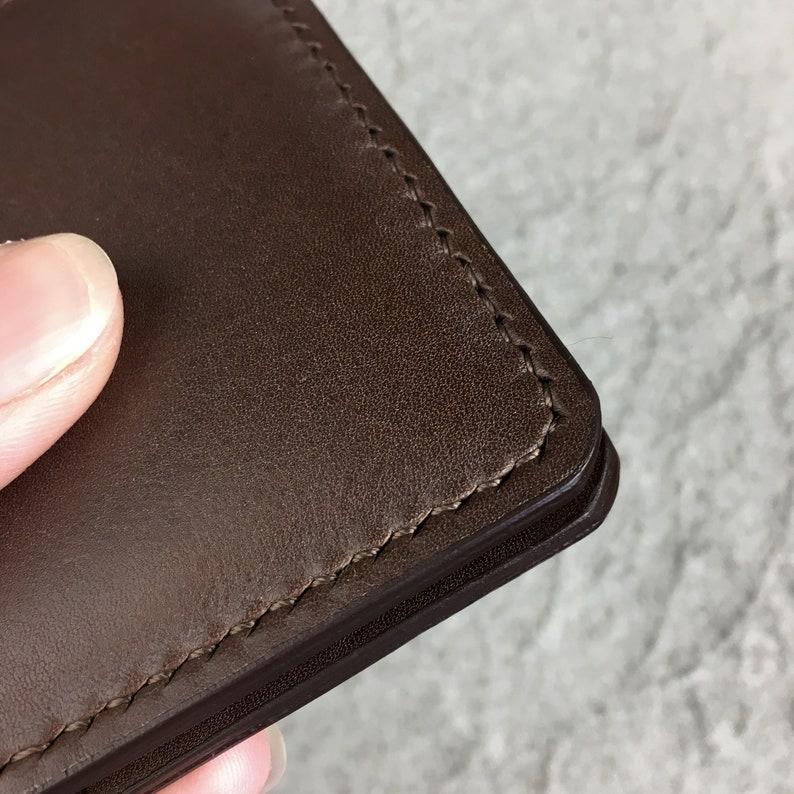 Minimalist leather wallet Slim bi fold wallets for women and men Leather card holder Business card holder Small credit cardholder