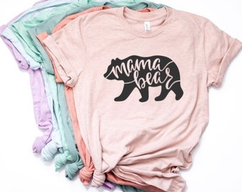 17520a19669aa Mama Bear Shirt for Women, Mother's Day Gift, Mama Bear Shirt, Mama Bear T-shirt  Shirt ,Momma Bear T-Shirt, Bear Shirts for Moms
