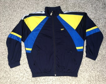 68690d979 Vintage Jacket retro tracksuit top 90s jacket 80s vtg size XL