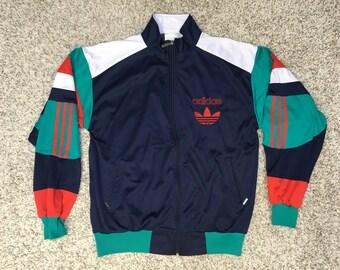 010218330ca8 Vintage China Adidas Jacket retro tracksuit top 90s jacket 80s vtg MEN WOMEN  green white size L