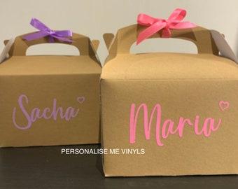 Small Personalised Gift Box with Ribbon, Custom Gift Box, Personalised Gift Box, Birthday Box, Wedding Box, Baby Box, Gift Box, All colours