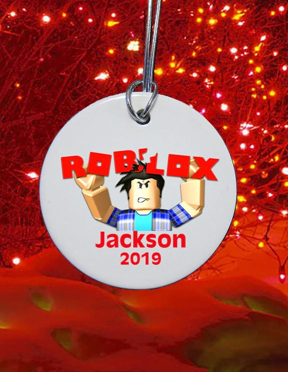 3 Porcelain Roblox Christmas Ornament Personalized Etsy