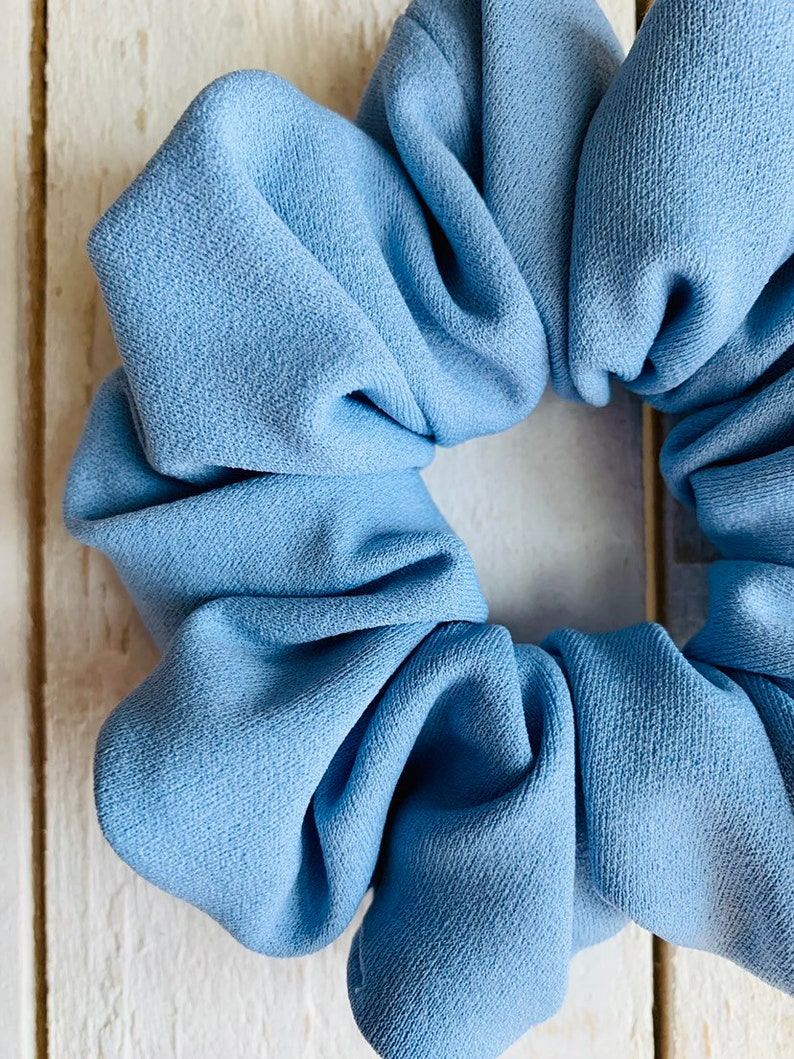 Spring Scrunchies Soft Scrunchies Hairtie Beach Day Pastel Blue Scrunchie Light Blue Scrunchie