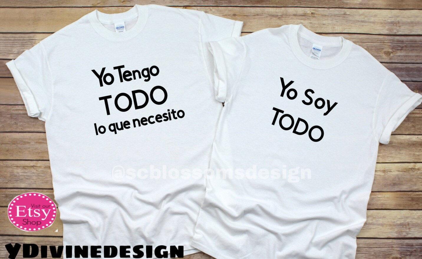 Solo tengo ojos camisa parejas Funny shirts Camisas en espa\u00f1ol Couples shirt