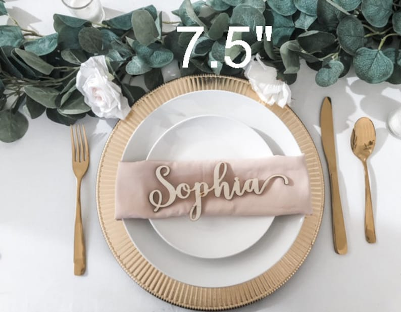 Laser Cut Name Cards Custom Wood Place Card Names Wedding Decor Wood Place Card Names Wedding Place Cards Name Place Setting
