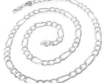 45ft  Gunmetal Chain Figaro Chain 5x8.6mm Open Link