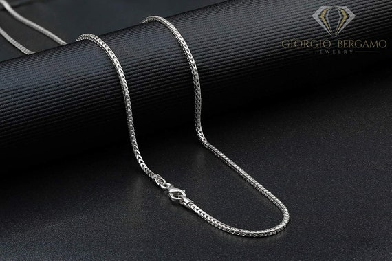 Made in Italy Sterling Silver 16 inch Ball Chain Necklace 1.4 Grams Super Shiny