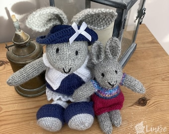Two Knitted Rabbits