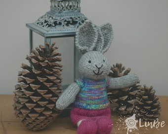 Knitted Rabbit in T-Shirt dress