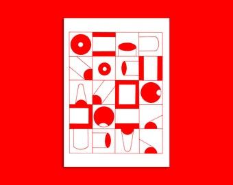 Tube - Illustrated A3 print