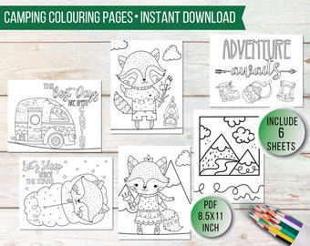 Fun Colouring Page Etsy
