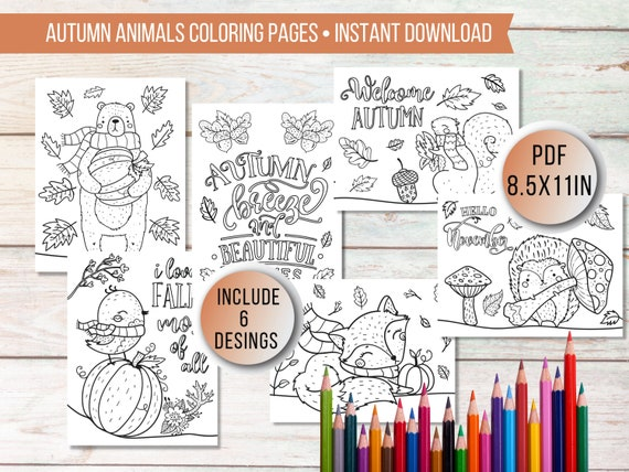 Fall Coloring Pages for KidsPrintable Autumn Coloring Pages