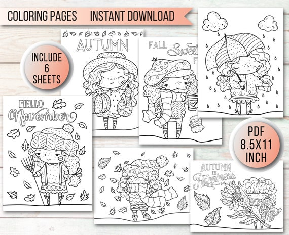 Autumn Coloring Pages for Kids  Printable Fall Coloring Pages