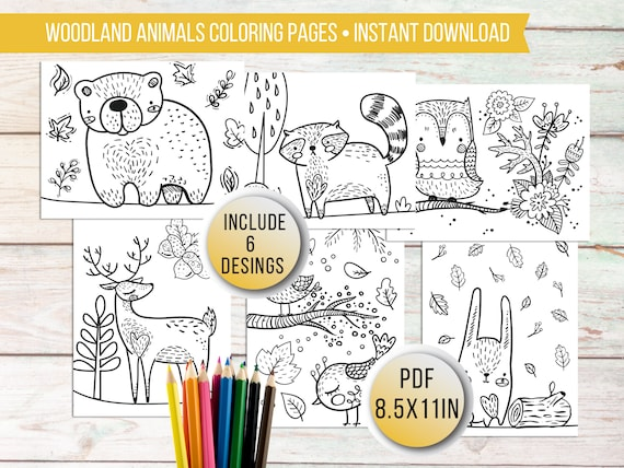 Printable Woodland Coloring Pages for kids Kids Animal