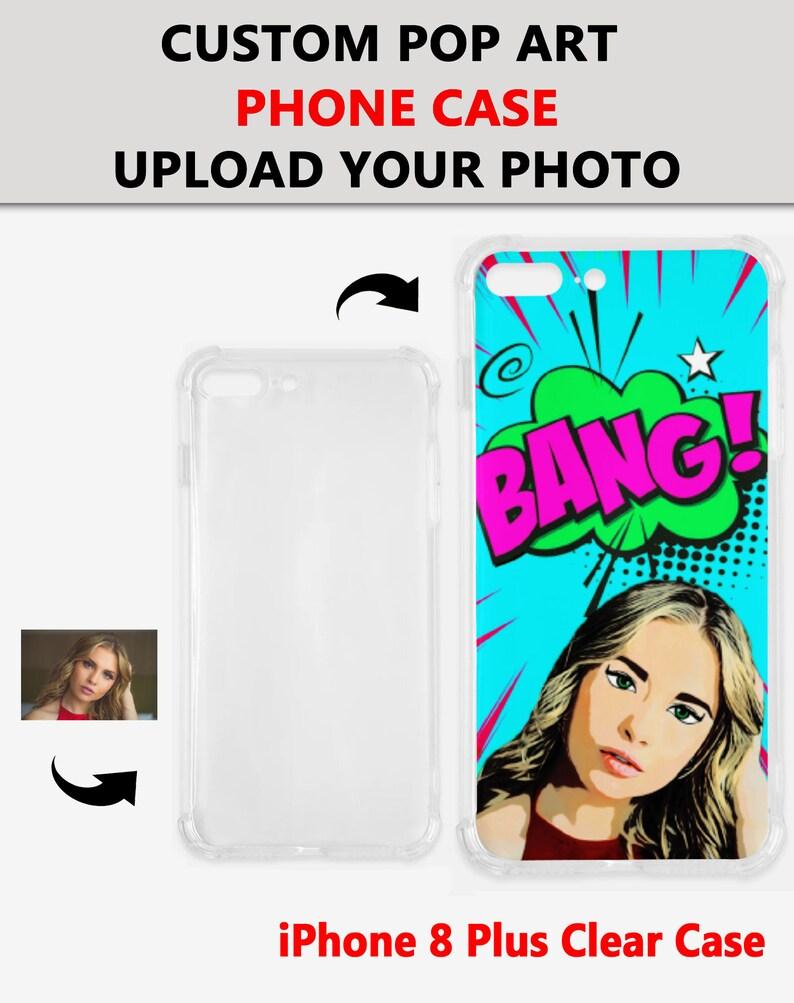 Personalized Pop Art Photo Phone Case Custom iPhone Case Custom Pop Art Design From Your Photo,Custom Pet Illustrated Phone Case,Art Case