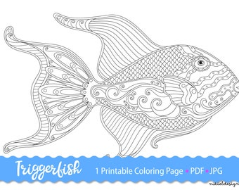 Step by Step How to Draw a Lagoon Triggerfish ... | 270x340
