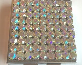 Bling Aurora Rainbow Crystal Rhinestone Pillbox