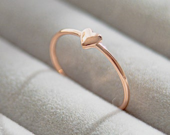 Heart Ring  Open Heart Ring  Gold or Rose or Silver Simple Ring  Pura Vida Heart Ring  Simple Ring  Gift For Her  Anniversary