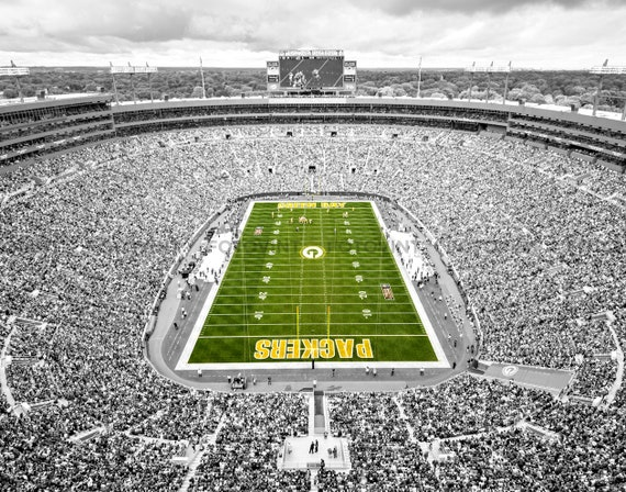 Lambeau Field Photo Picture Green Bay Packers Football Stadium Etsy